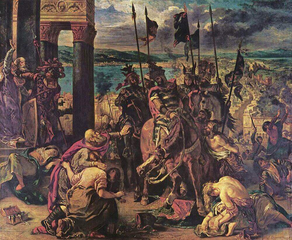 Entry of the Crusaders in Constantinople by Eugene Delacroix