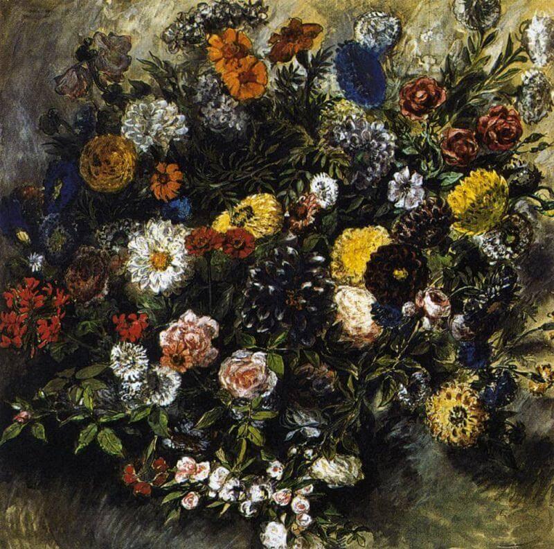 Flowers by Eugene Delacroix