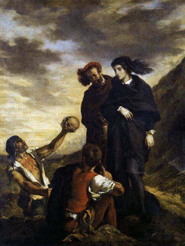 Hamlet and Horatio in the Graveyard by Eugene Delacroix