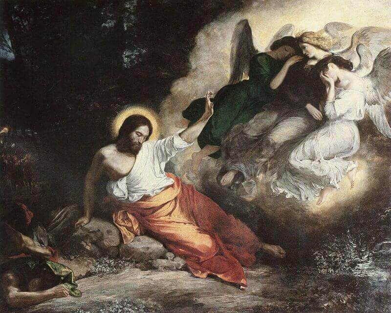 The Agony in the Garden by Eugene Delacroix