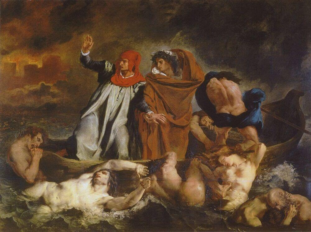 The Barque of Dante by Eugene Delacroix