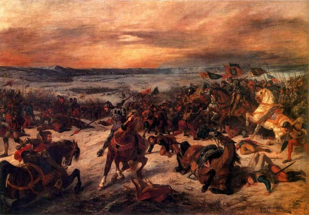 The Battle of Nancy by Eugene Delacroix