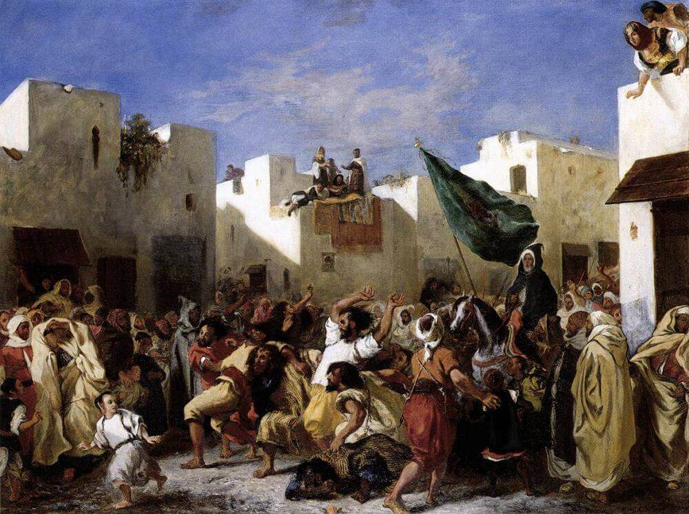 The Fanatics of Tangier by Eugene Delacroix