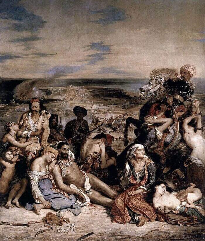 The Massacre at Chios by Eugene Delacroix