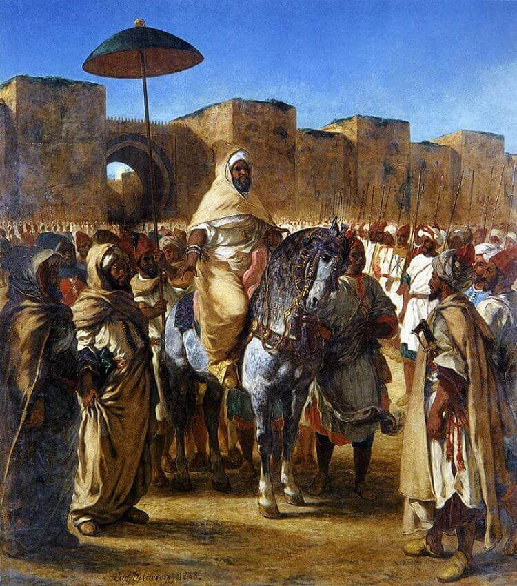 The Sultan of Morocco and his Entourage by Delacroix